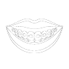 Icon of teeth with metal braces to show that your Seattle orthodontist offers metal braces
