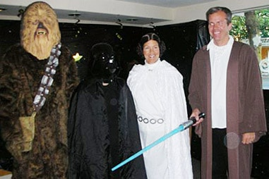 The team at Nelson Orthodontics dressed up as the cast of Star Wars.