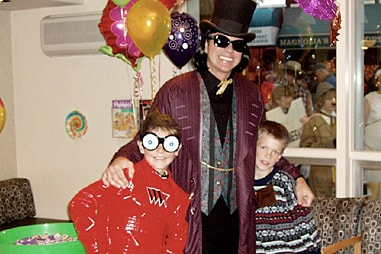 The team at Nelson Orthodontics dressed up as the cast of Willy Wonka