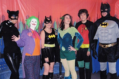 The team at Nelson Orthodontics dressed up as the cast of Batman
