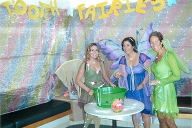 The team at Nelson Orthodontics dressed up as fairies.
