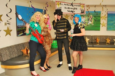 The team at Nelson Orthodontics dressed up as pop stars.
