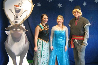 The team at Nelson Orthodontics dressed up as the cast of Frozen.